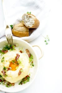 Cloud Eggs met spek en gruyere