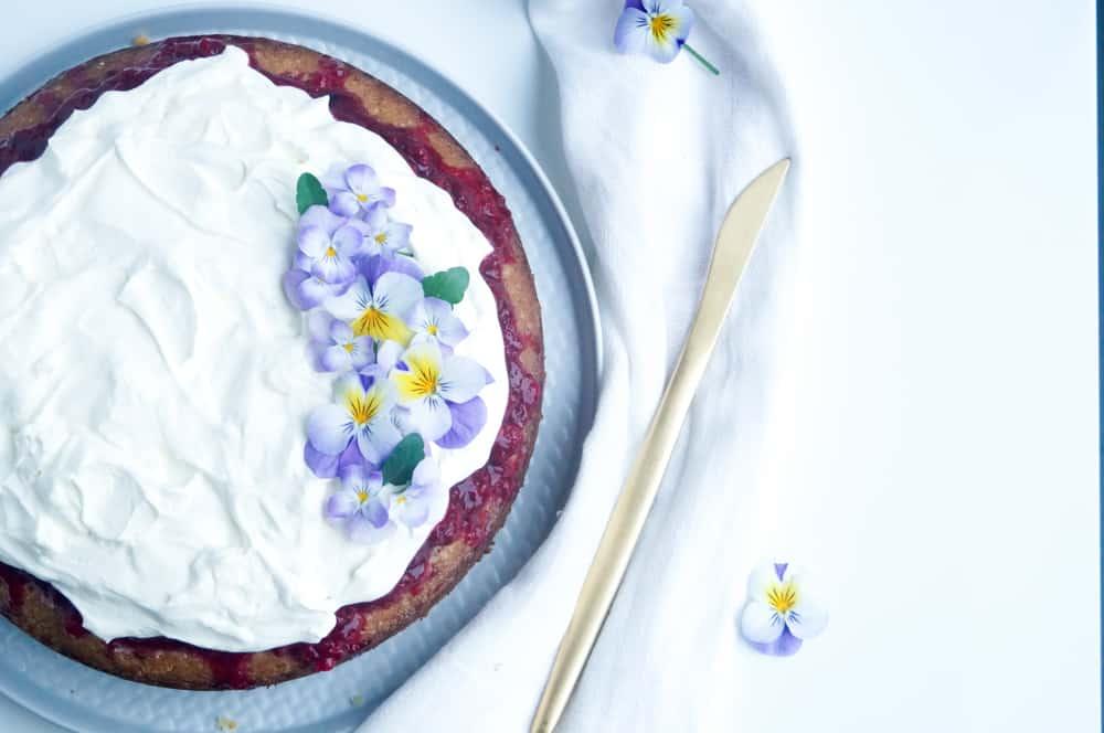 Tres Leches cake met citroen framboos-1