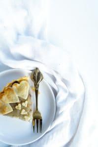 Frangipanetaart met appel en honing