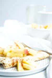 Havermout flensjes met ananas en appel