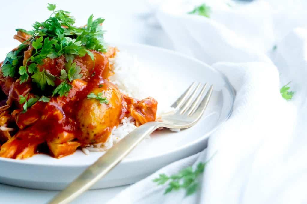 Stoofpotje met kip, aardappel en garam masala