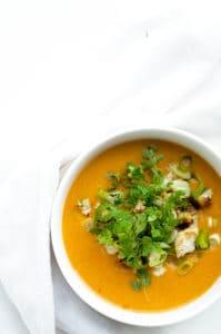 Bloemkoolsoep met curry