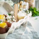 Witte chocolademousse met sinaasappel curd
