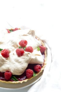 Frambozentaart met meringue