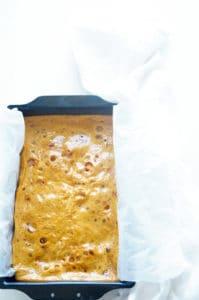 Pudding met kardemom, rabarber en honeycomb