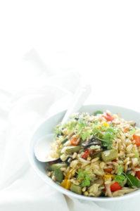 Risoni salade met geroosterde groenten