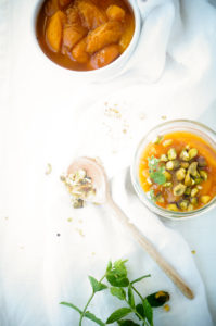Trifle met abrikozen, mascarpone en pistache