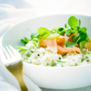 risotto met courgette pesto zalm