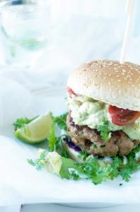 Hamburger met guacamole