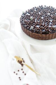 Chococladetaart met karamel