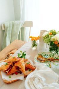 Perziken flappen met frambozen