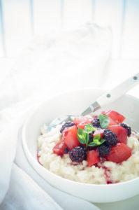 Rijstpap met herfstfruit