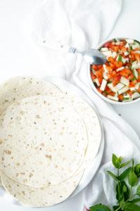 Quiche met gehakt en groenten