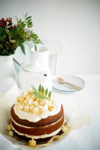 Cake met salted caramel