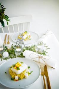 Kabeljauw met bloemkool en mango