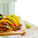 Taco met kip en guacamole