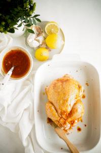 Marrokaanse kip met geroosterde bieten en couscous