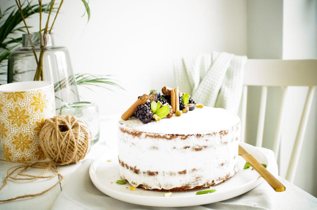 Chai cake met roomkaasglazuur