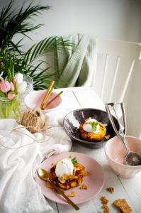 Kokossorbet met gebakken ananas