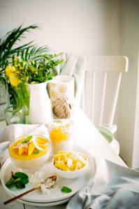 Rijstpudding met kokos en mangoRijstpudding met kokos en mango