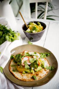 Taco's met zalm en citrus salsa