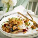 Makreel met venkel, rode biet en hartige granola