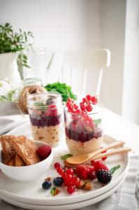 Speculoosmousse met rood fruit