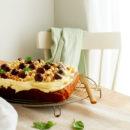 Bananencake met witte chocolade botercrème