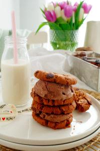 Chocoladekoekjes met pindakaas