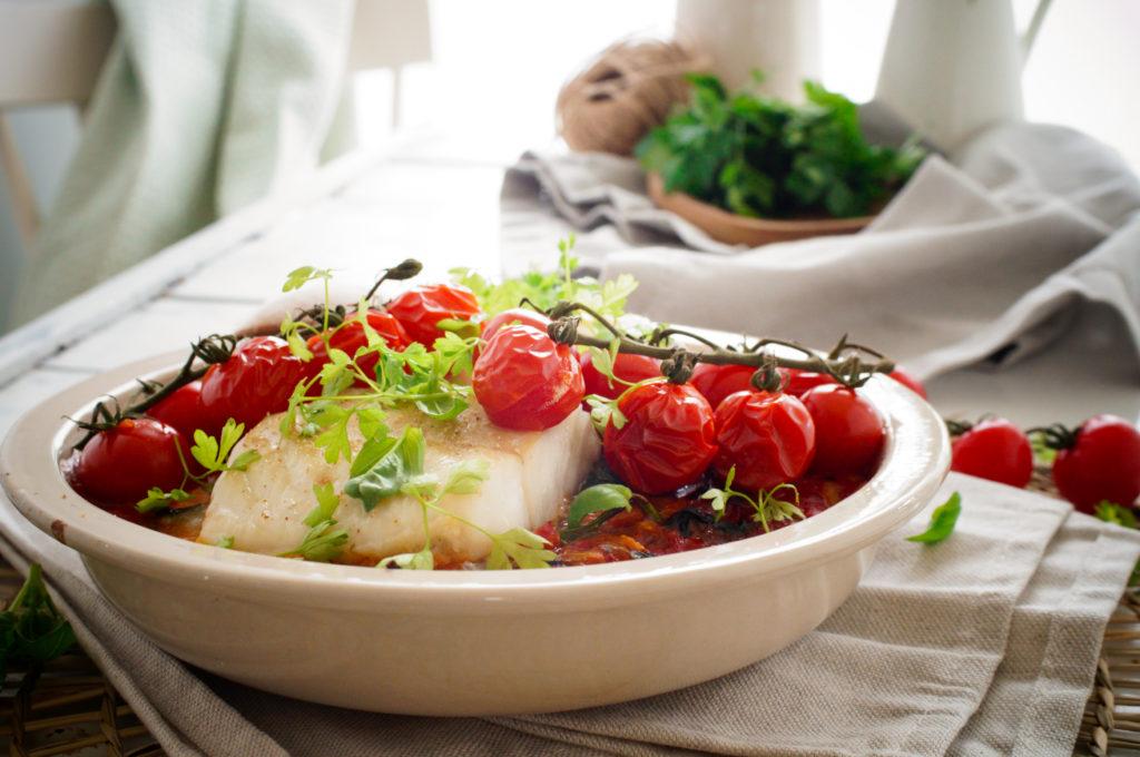 Kabeljauw uit de oven met venkel en tomaat