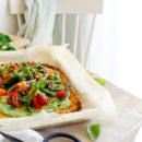 Bloemkoolpizza met geroosterde groenten