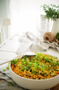 Bloemkoolcouscous met curry