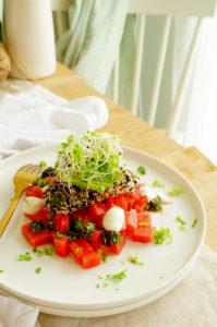 Salade met krokante halloumi en watermeloen