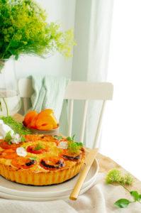 Puddingtaart met abrikozen