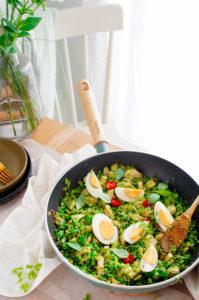 Wok met kip en broccoli