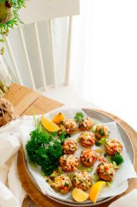 Gevulde champignons met surimi