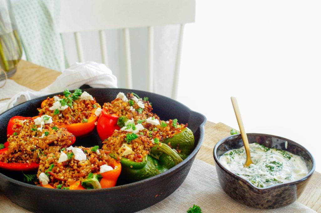 Gevulde paprika's met quinoa