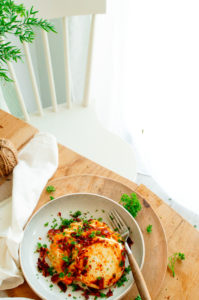 Pompoenrisotto met spek en geitenkaas
