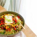 Tabouleh met geroosterde groenten en feta