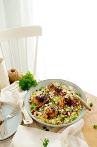 Pilaf rijst met kip