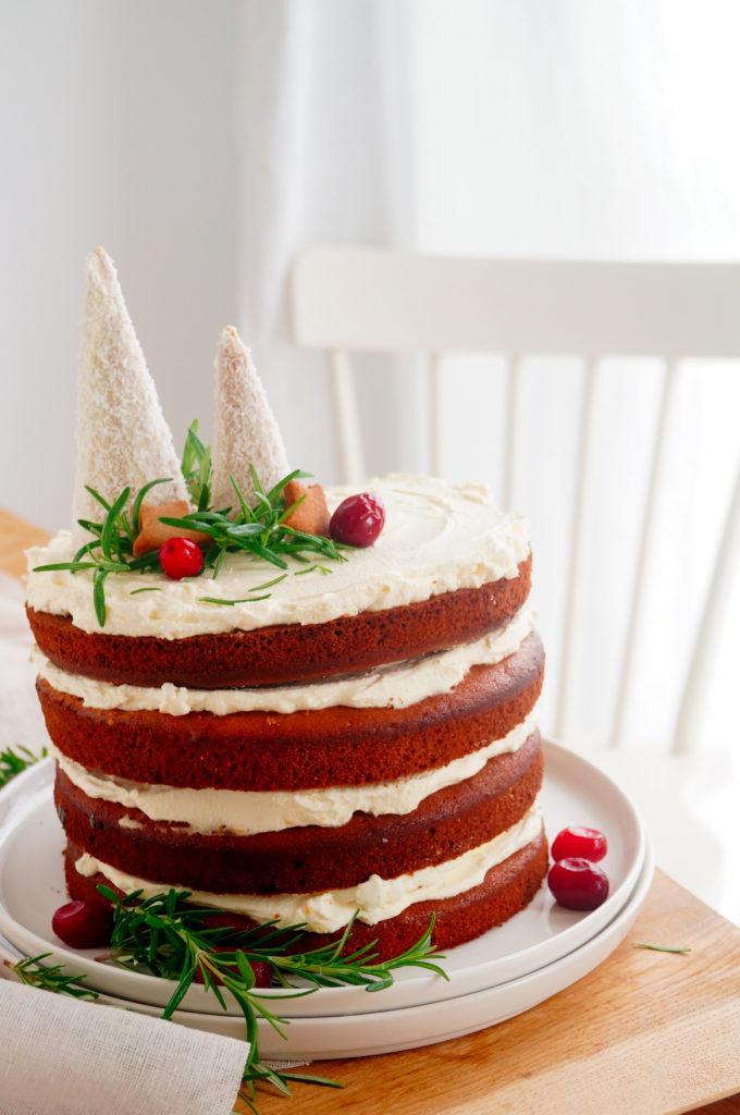 Gingerbread cake met roomkaas