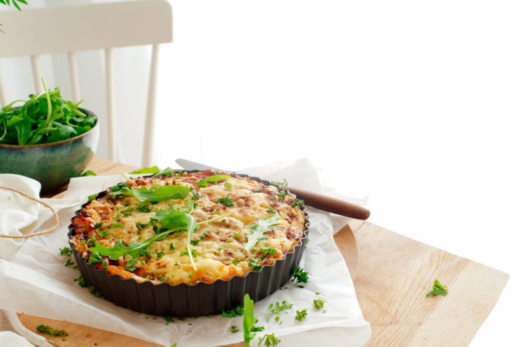 Quiche met witloof en appel