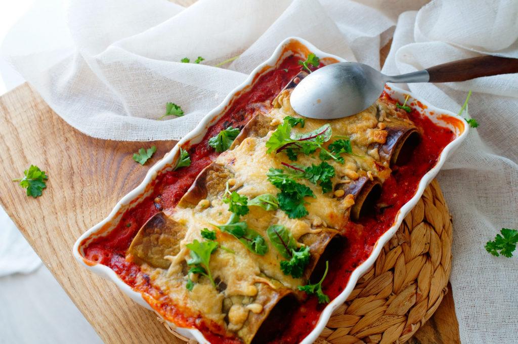 Cannelloni met kip, spinazie en ricotta