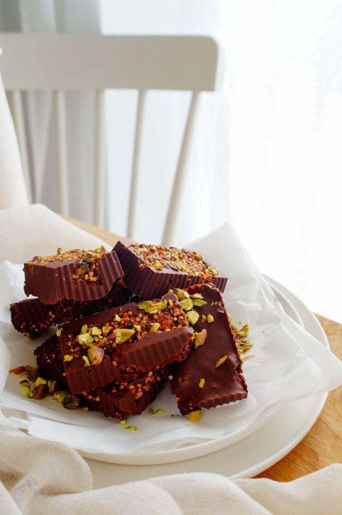 Chocoladerepen met noten