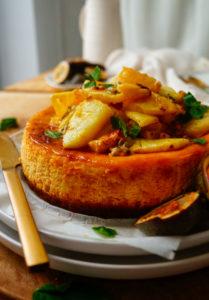 Cheesecake met ananas en passievrucht