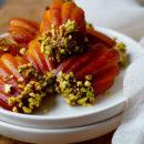 Madeleines met saffraan, honing en sinaasappel