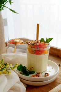 Yoghurtmousse met sinaasappel