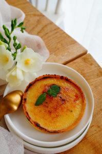 Crème brûlée taart met chai