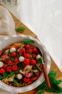 Hartige dutch baby met spinazie en pesto