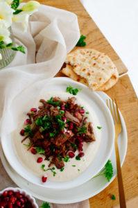 Lamsvlees met hummus